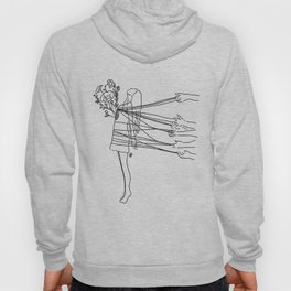 you can't stop me from blossoming. Hoody