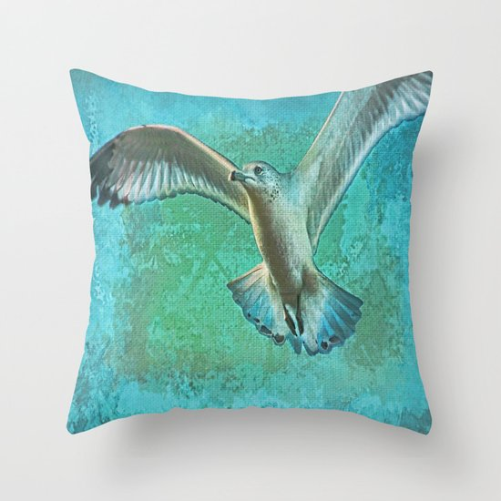 Soaring On Lifes Air Drafts Throw Pillow