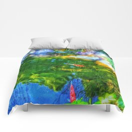 Glowing Reflecting Pond Comforters