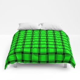 Neon Green Weave Comforters