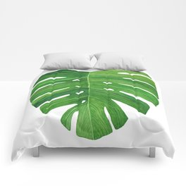 Monstera Deliciosa Leaf Comforters