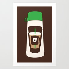 The Coffee Stacker Art Print