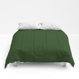 Dark Forest Green Color Comforters