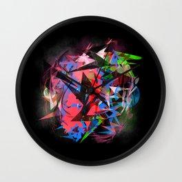 Abstract Electrics Wall Clock