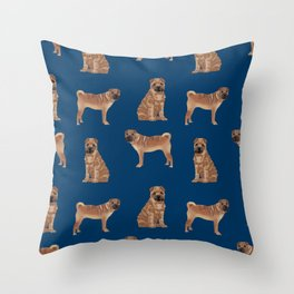 Sharpei dog breed gifts pet friendly sharpei dogs Throw Pillow