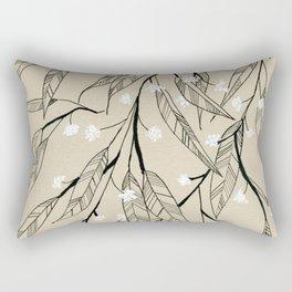 Line Drawing Leaves #3 Rectangular Pillow