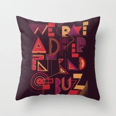 A Different Buzz Throw Pillow