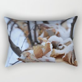 Snowy Birch Tree Rectangular Pillow