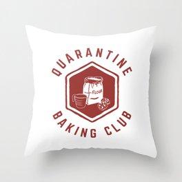 Quarantine Baking Club Throw Pillow