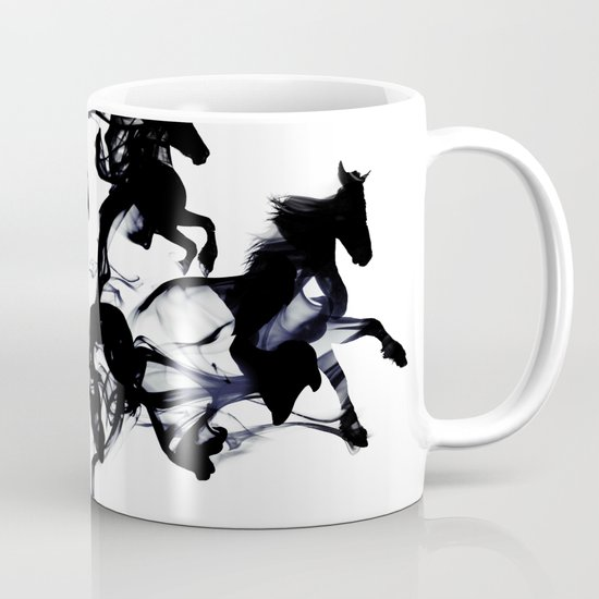 Black horses Mug