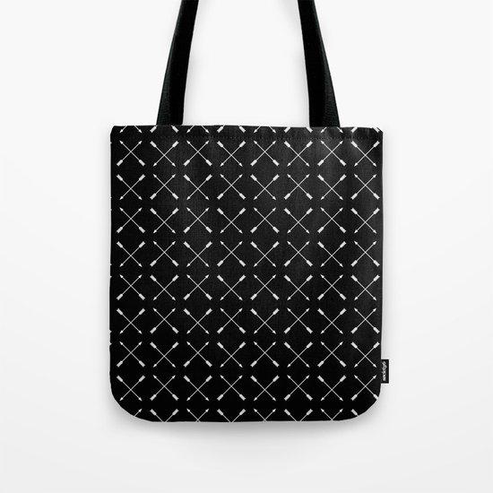 White Arrows Pattern Tote Bag