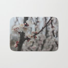 White Cherry Blossoms Bath Mat
