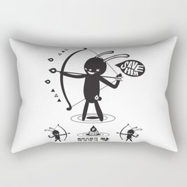 SORRY I MUST LIVE - DUEL 2 VER B ULTIMATE WEAPON ARROW Rectangular Pillow