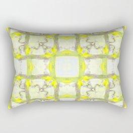 Painty Checks - Yellow Rectangular Pillow
