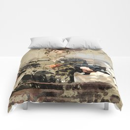 Tony Montana paint art Comforters