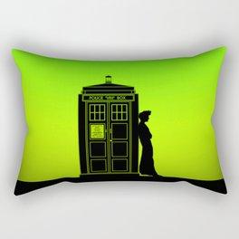 Tardis With The Tenth Doctor Rectangular Pillow