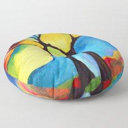 Grove in autumn Floor Pillow