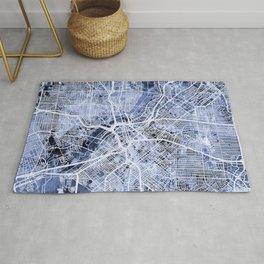 Dallas Texas City Map Rug