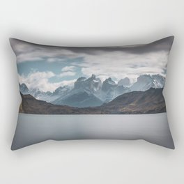 Somewhere over the mountain range Rectangular Pillow