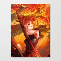 dragon age inquisition Canvas Prints featuring Dragon Age Inquisition - Sera by Niklisson