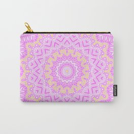 White rose mandala . Carry-All Pouch