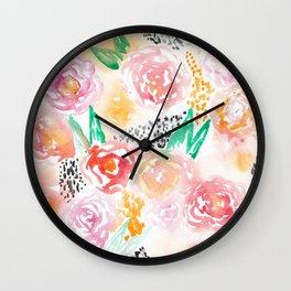 Abstract Watercolor III Wall Clock