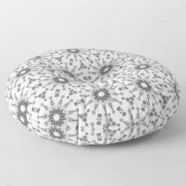Black and White pinwheels Floor Pillow