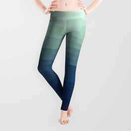 Gradient Pixel Aqua Leggings