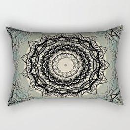 Tree Lace Black Cream Blue Pattern Kaleidoscope A541pt1 Rectangular Pillow