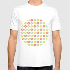 Balloon Hearts MEDIUM White Mens Fitted Tee