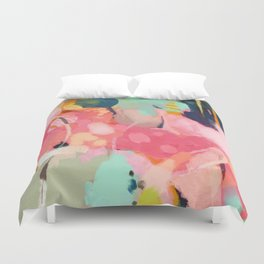 spring moon earth garden Duvet Cover