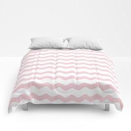 Pink Zig Zag Pattern Comforters