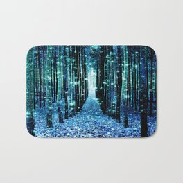 Magical Forest Teal Turquoise Badematte