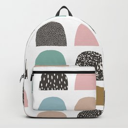 Modern Abstract Geometric Half Circles Pattern Backpack