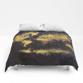 world map 65 yellow Comforters