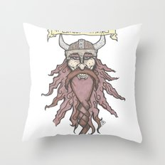 #ghostviking Throw Pillow