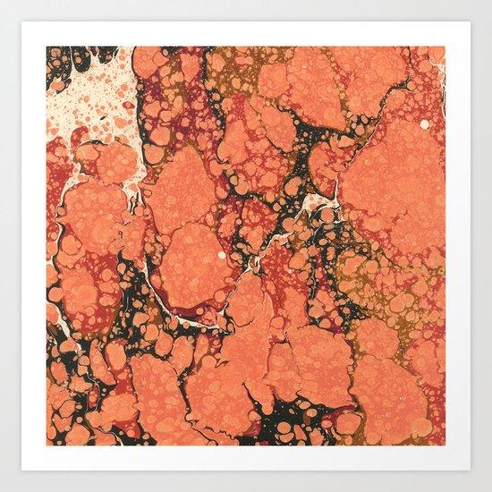Marble Pink Square # 2 Art Print