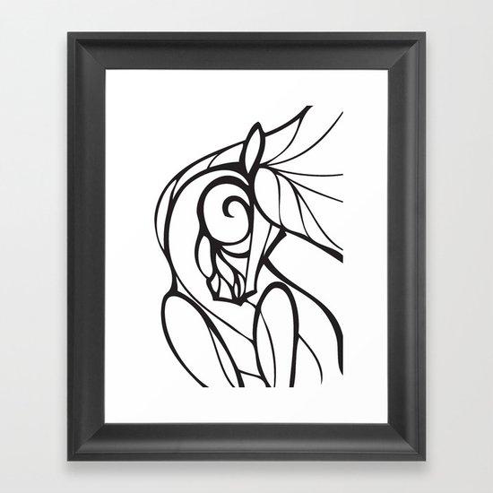 Horse Swirls 2 Framed Art Print