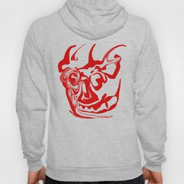 face8 red Hoody