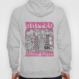 United Against Cancer - Breast Cancer Awareness - Zentangle Women Hoody