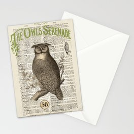 Owl's Serenade Stationery Cards