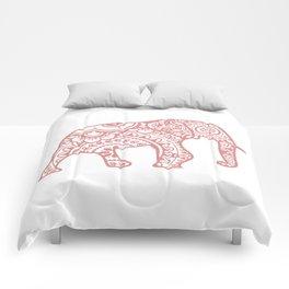 Mandala Elephant - Peach Palette Comforters
