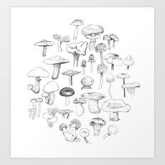 The mushroom gang Art Print