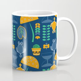 Happy pattern with turtles and cacti Coffee Mug