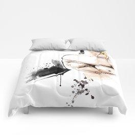 Shibari - Japanese BDSM Art Painting #14 Comforters