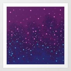 Bi Pride Flag Galaxy Art Print