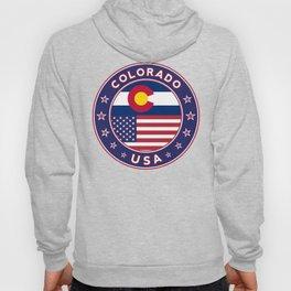 Colorado, Colorado t-shirt, Colorado sticker, circle, Colorado flag, white bg Hoody