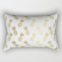 Gold Pineapple Pattern Rectangular Pillow