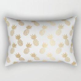 Gold Pineapple Pattern Rectangular Pillow