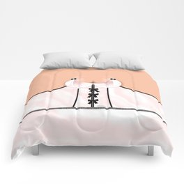 Lingeramas - Sexy Pink and Black Lingerie Top Comforters